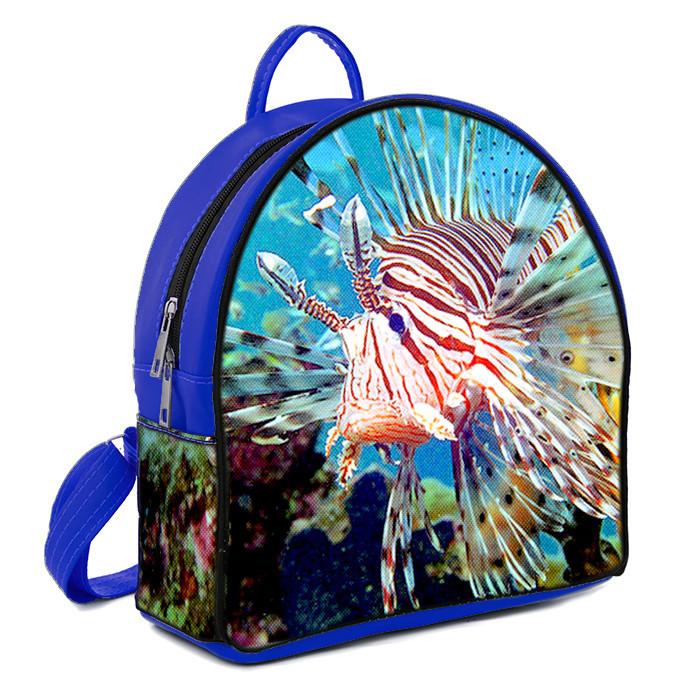 Рюкзак Moderika Arco синий с рисунком Рыба (78118)