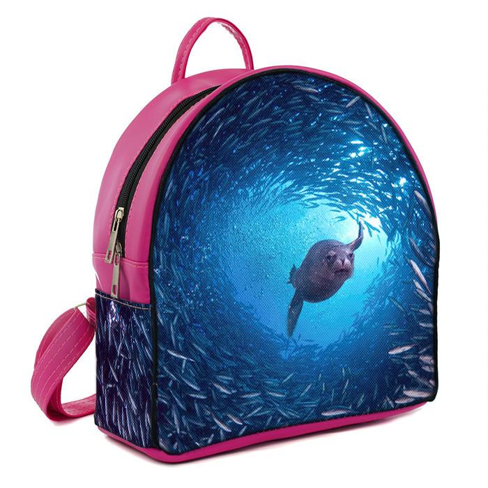 Рюкзак Moderika Arco розовый с рисунком Морской Котик (78123)
