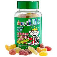 Gummi King, Эхинацея с витамином С и цинком, Для детей, 60 жевательных таблеток
