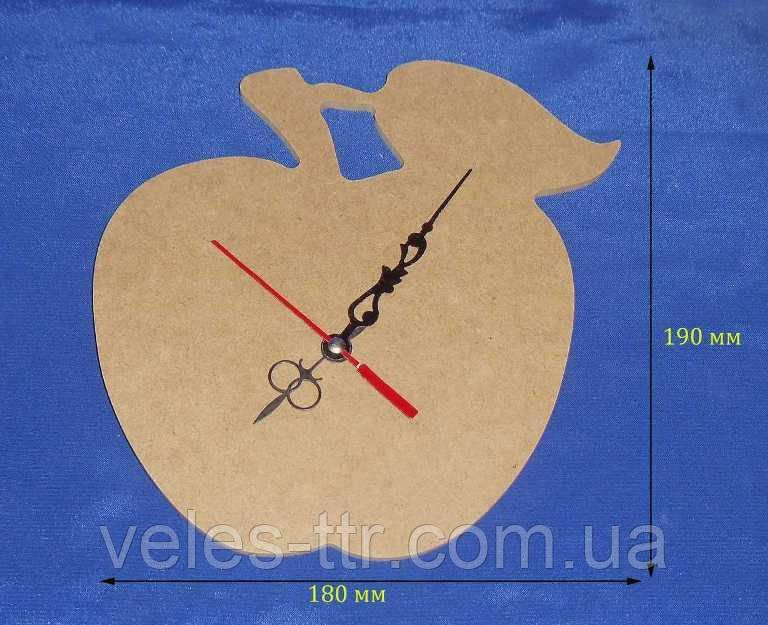 Годинник Яблуко 18х19 см МДФ заготівля для декору