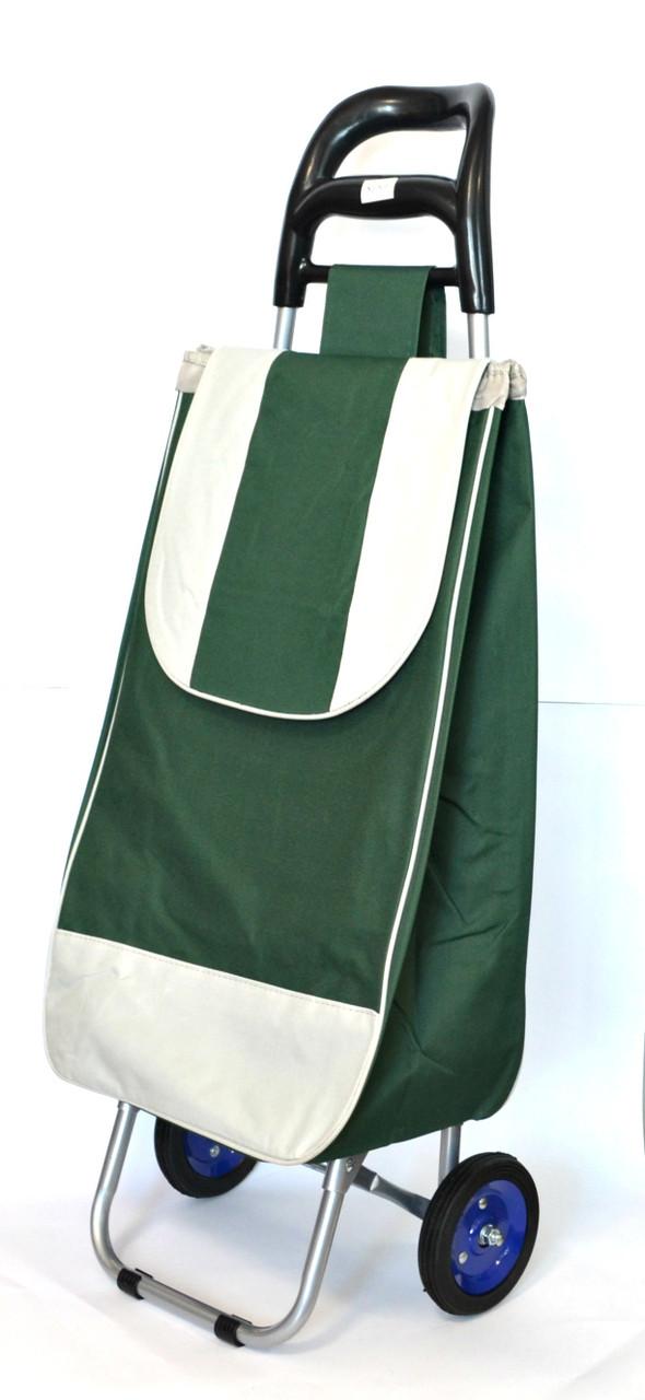 ed2111704ff6 Хозяйственная сумка - тележка с колесами на подшипниках Green with gray