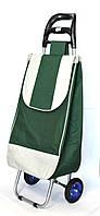 Хозяйственная сумка тележка Xiamen с колесами на подшипниках Green with gray (0004)