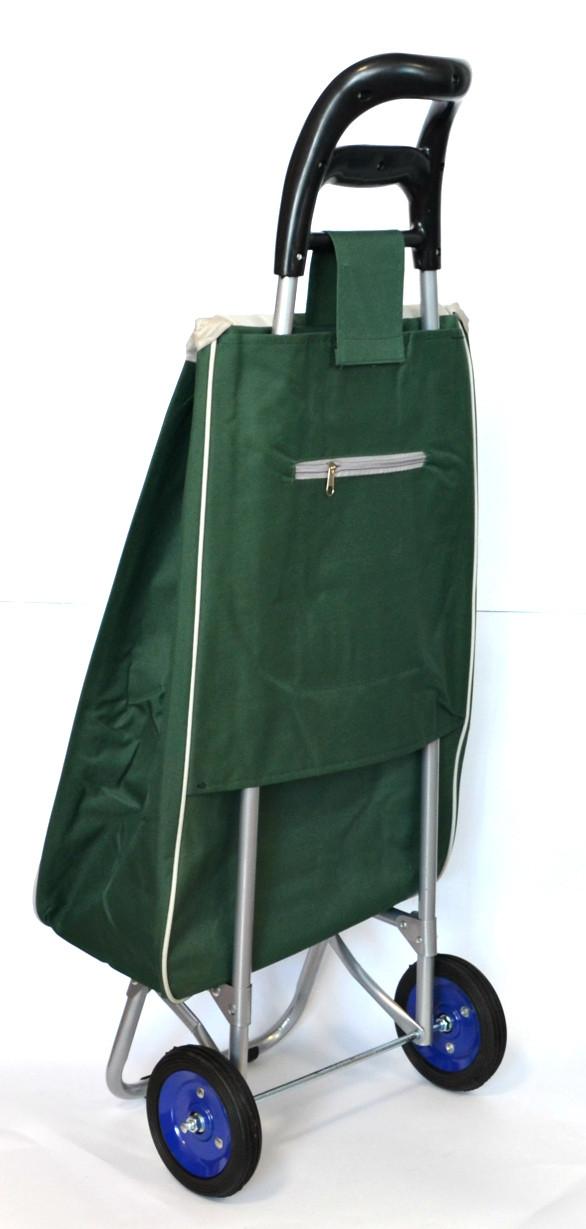4ef7826db922 Хозяйственная сумка - тележка с колесами на подшипниках Green with gray, ...