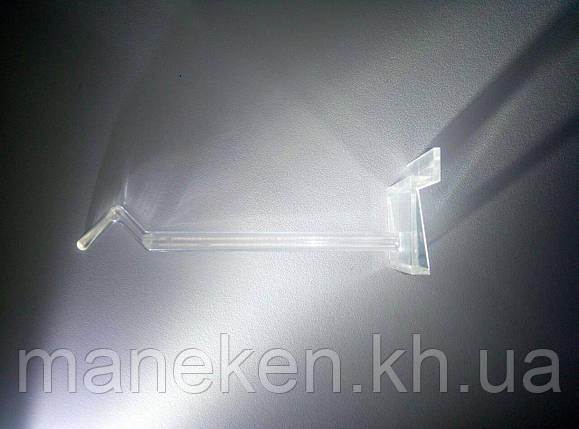 Крючёк на эконом панель прозрачный пластик, фото 2