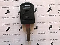 Автоключ для Opel Combo, Corsa, Tigra, Meriva Agila (Опель) 2 кнопки, лезвие HU46, ID40/433Mhz