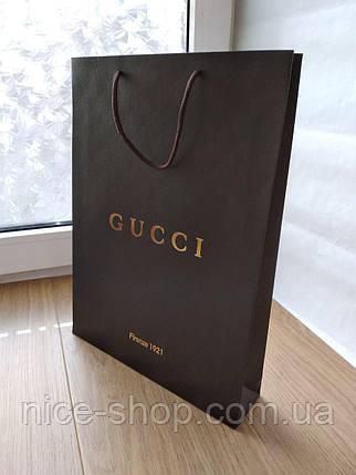 Подарочный пакет Gucci :вертикаль, mахi, фото 2