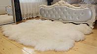 Коврик из 6-ти натуральных овечьих шкур, белый, 200*180 см