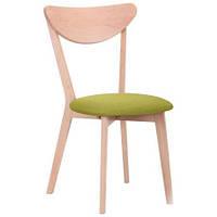Обеденный стул Камамбер бук беленый Обеденный стул Камамбер бук беленый/лайм
