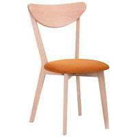 Обеденный стул Камамбер бук беленый Обеденный стул Камамбер бук беленый/оранж