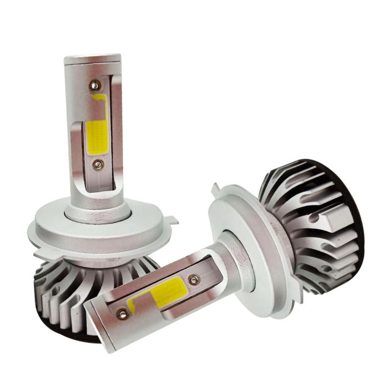 LED лампы в головной свет светодиодные H4 Epistar F2 COB 4200Lm 28Watt, 2019