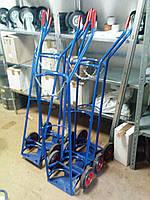 Тележка ручная двухколёсная для одного балона, литые колеса диаметром200 мм, нагрузка 150 кг, фото 1