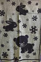 Одеяло  жаккардовое полушерстяное  Снежок  100х140см