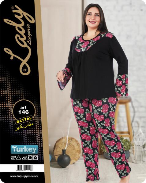 Пижама больших размеров LADY LINGERIE 146 размер 3XL