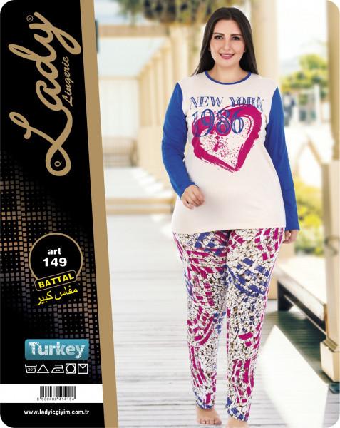 Пижама больших размеров LADY LINGERIE 149