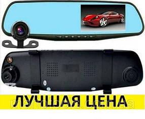 Видеорегистратор зеркало 1080P на 2 камеры DVR FULL HD