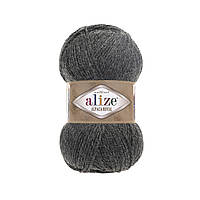 Пряжа  Alize Alpaca RoyaL 182 темно-серый (Альпака Роял)