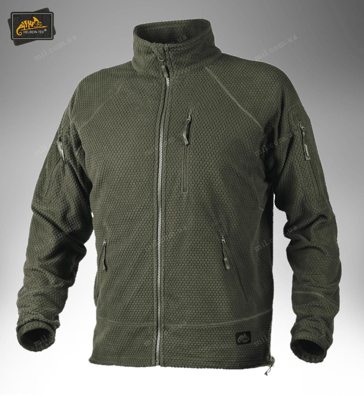 Тактическая флисовая куртка/ кофта Helikon-Tex® ALPHA TACTICAL fleece (оливковый)