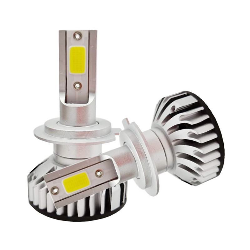 LED лампы в головной свет светодиодные H7 Epistar F2 COB 4200Lm 28Watt, 2019