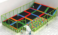 Батутная арена с поролоновой ямой 62754, фото 1