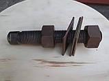 Нержавіюча жаростійка шпилька з гайками, М27х200, фото 3