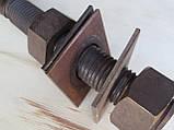 Нержавіюча жаростійка шпилька з гайками, М27х200, фото 5