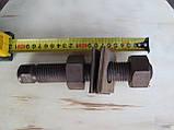 Нержавіюча жаростійка шпилька з гайками, М27х200, фото 2