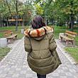 Куртка длинная хаки- 215-01-1, фото 3