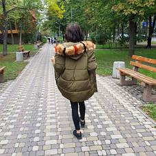 Куртка длинная хаки- 215-01-1, фото 2