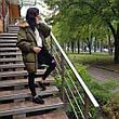 Куртка длинная хаки- 215-01-1, фото 5