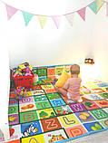 Теплый детский коврик развивающий Море и англ. алфавит. Большой, фото 6