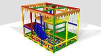 """Детский игровой лабиринт """"Забавный-3"""" площадью 6 квадратных метров, двухуровневый."""