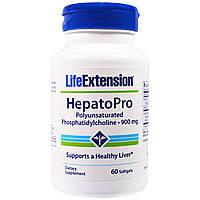 Гепатопро, Здоровье печени, фосфатидилхолин, Life Extension, 900 мг, 60 капсул