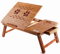 Бамбуковый столик для ноутбука в кровать NT26, фото 1