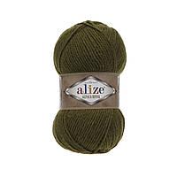 Пряжа  Alize Alpaca RoyaL 233 оливковый зеленый (Альпака Роял)