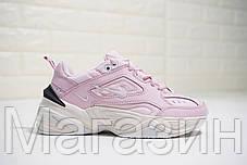 Женские кроссовки Nike M2K Tekno Pink Найк Текно розовые, фото 3