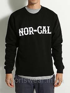 """Свитшот черный  мужской с принтом Nor Cal True North Crew Кофта """""""" ТОП Реплика """""""""""