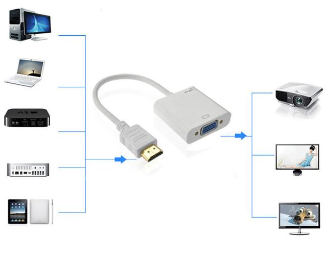 Схема подключения конвертера HDMI to VGA