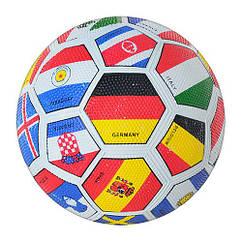 Мяч футбольный VA 0004 FLAG (50шт) размер 5, резина, Grain зернистый, 350-370г, в кульке,