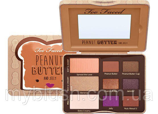 Тени для век Too Faced Peanut Butter and Jelly (9 цветов)