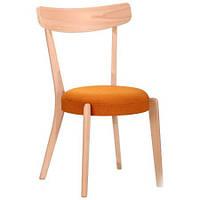 Обеденный стул Пекорино бук беленый, TM AMF Обеденный стул Пекорино бук беленый, TM AMF/оранж