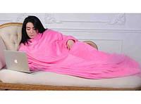 Плед с рукавами микрофибра розовый, фото 1