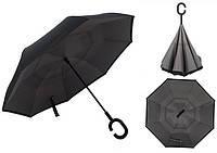 Зонт обратного сложения (т1007/0) черный