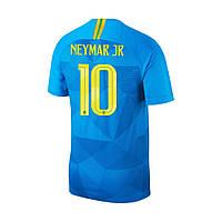 Футбольная форма Сборной Бразилии Неймар (Neymar) World Cup 2018 гостевая, фото 1