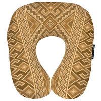 Дорожня Подушка рогалик оксамитова тканина 32х29 см