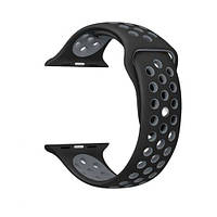 Ремешок для  Apple  Watch Nike Sport Band  38/42mm Black Silver