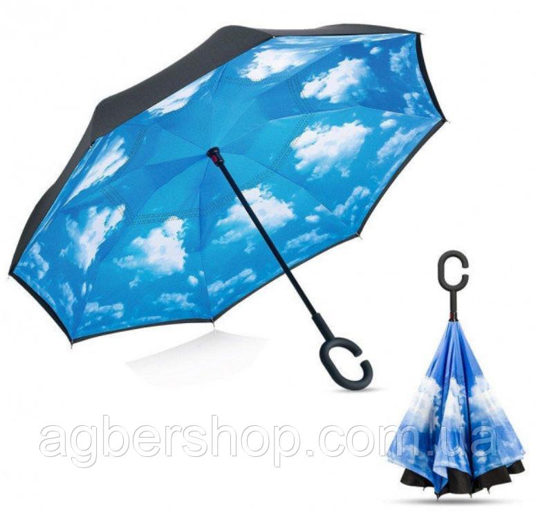 Зонт обратного сложения (55503/0) небо