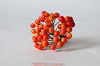 Глянцевые ягоды желто-оранжевого  цвета (калина) около 40 шт/уп., фото 1