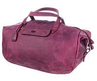 9cea46b2af01 Дорожная сумка из натуральной кожи Level Крокодил burgundy бордовый 53 л