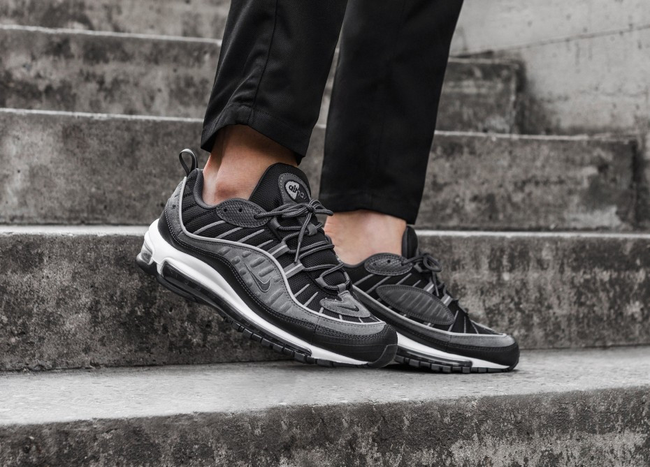 "Кроссовки Nike Air Max 98 SE ""Black/Anthracite"" (Темно-серые)"