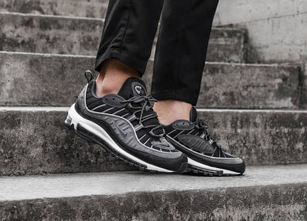 "Кроссовки Nike Air Max 98 SE ""Black/Anthracite"" (Темно-серые), фото 2"